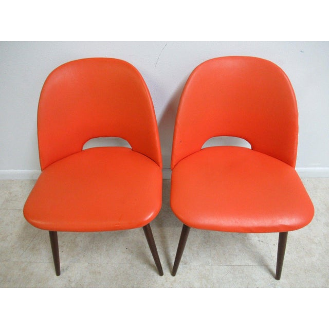 1960s Adrian Pearsall Craft Associates Scoop Side Chairs - A Pair For Sale - Image 5 of 9