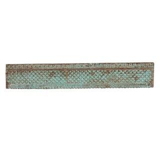 Aqua Painted Moorish Star Wooden Carved Panel