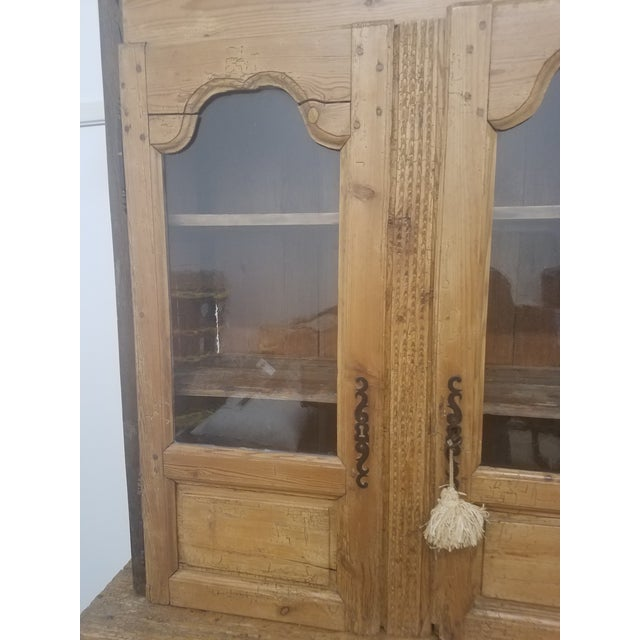 Primitive Antique Pine Cupboard - Made in France We liked this piece because it was very primitive adding to it...