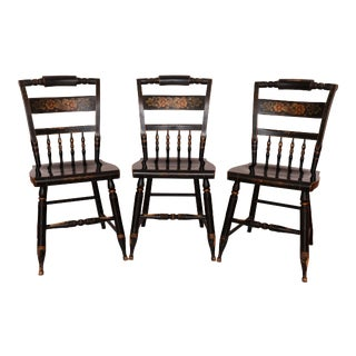 Hitchcock Dining Chairs - Set of 3 For Sale