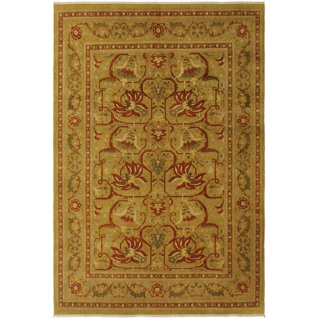 Green 1950's Persian Karri Rust Hand-Knotted Rug -10'0 X 13'8 For Sale - Image 8 of 9
