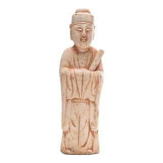 13th Century Antique Yuan Dynasty Inspired Royalty Pottery Figure For Sale