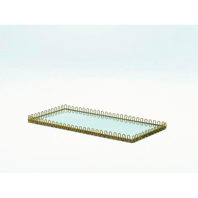 1950s Mid-Century Brass Mirror Tray For Sale - Image 5 of 5