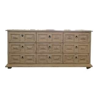 1970s Shabby Chic Drexel 9-Drawer Dresser For Sale
