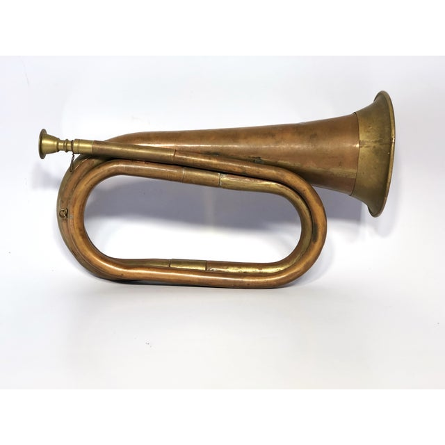 Early 20th Century Antique Copper Military Bugle For Sale - Image 9 of 9