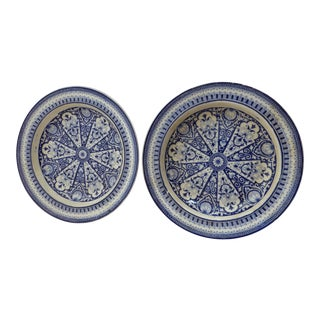 Antique Decorative English Transferware Plate - A Pair