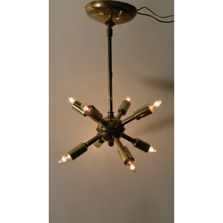 Pair of Brass Sputnik Chandeliers Preview