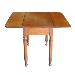 20th Century Early American Style Solid Maple Drop Leaf Side Accent Table Preview