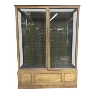 Antique Showcase 2 doors 19th For Sale