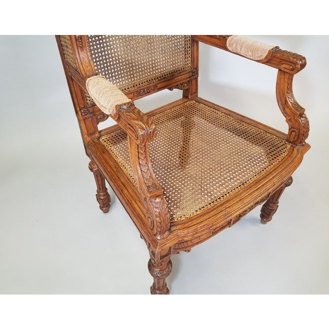 1910s Vintage Italian Renaissance Style Armchairs- a Pair For Sale - Image 11 of 13