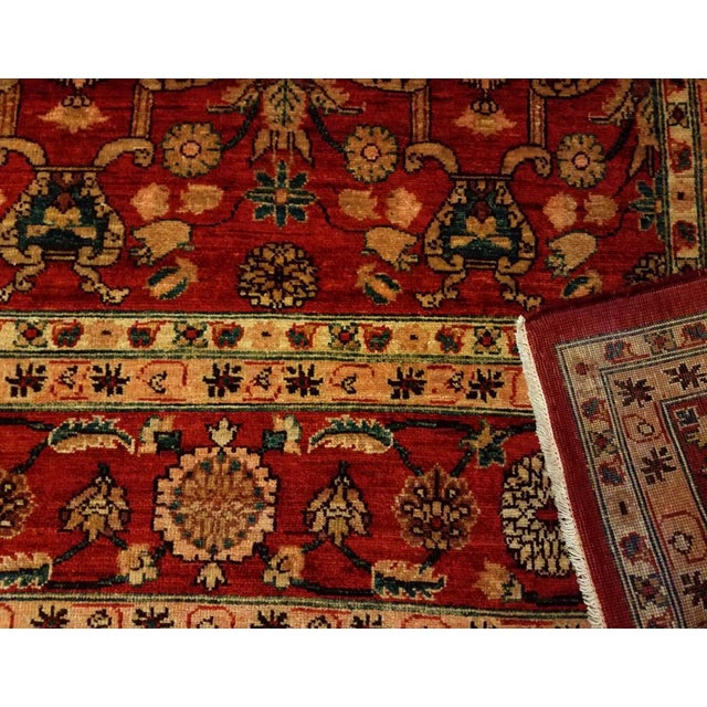 Kafkaz Peshawar Red Wool Rug - 8'10 X 12'4 For Sale In New York - Image 6 of 7