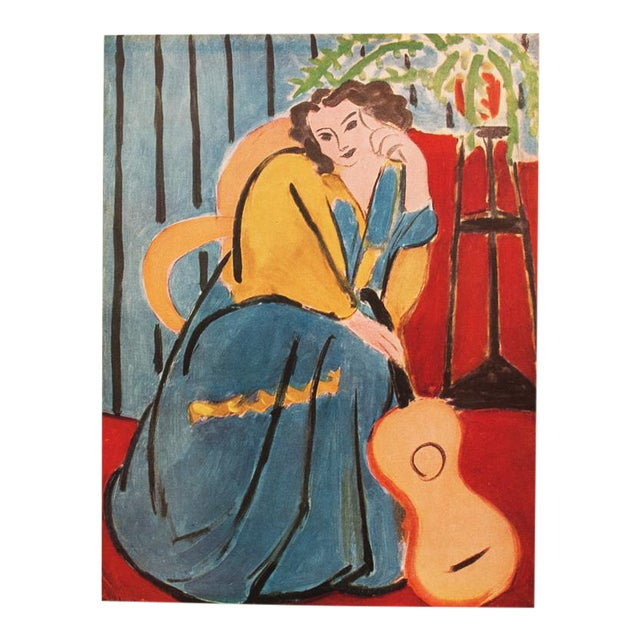 """1946 Henri Matisse, """"Seated Woman With a Guitar"""" Original Period Parisian Lithograph For Sale"""