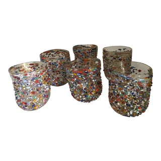 "Vetro DI Murano Acqua ""Goto"" Murrisa Drinking Glasses - Set of 6 For Sale"