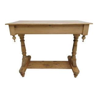 19th Century Country Pine Sofa Work Table