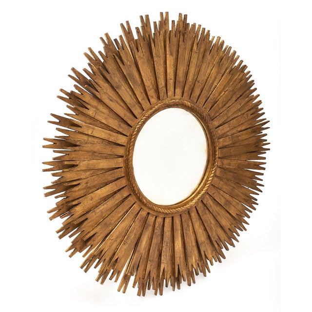 1960s Large Sunburst Mirrors - a Pair For Sale - Image 9 of 10