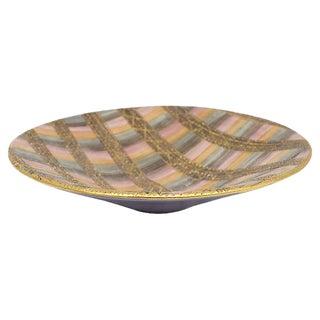 Mid-Century Italian Sgraffito Center Piece Bowl For Sale
