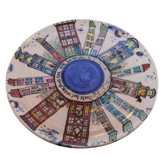 Dutch Canal Home Design Handmade Cake Plate Serving Platter For Sale