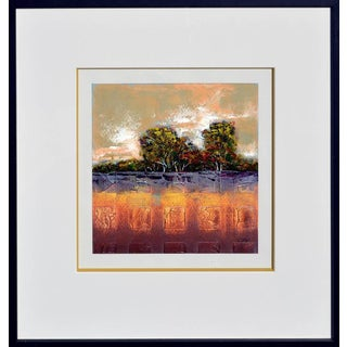 Abstract Tree Line Painting For Sale