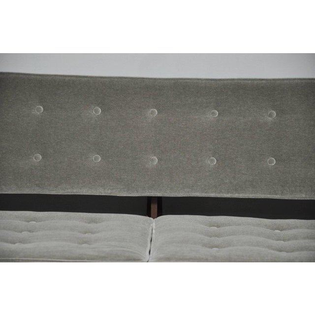 Mid-Century Modern La Gondola Sofa in Gray Mohair by Edward Wormley for Dunbar For Sale - Image 3 of 11