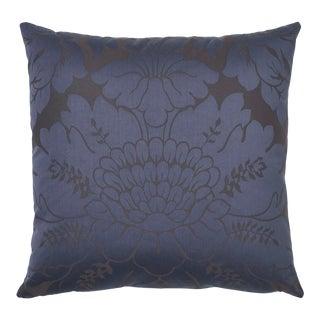 Schumacher Maggiore Damasco Pillow in Midnight For Sale