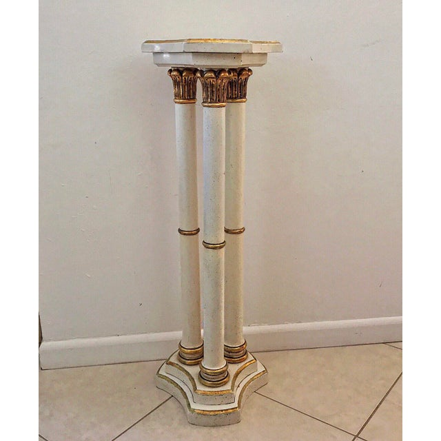 Vintage Italian Florentine Pedestal For Sale - Image 13 of 13