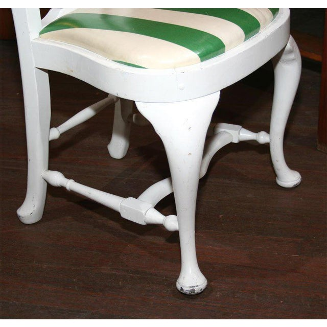White 1940s Vintage Dorothy Draper Side Chairs- Set of 4 For Sale - Image 8 of 21