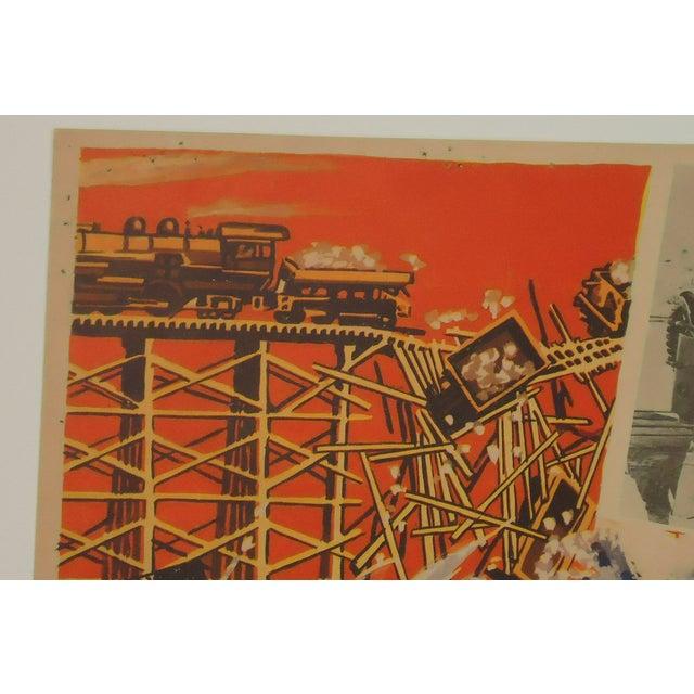 Vintage Movie Poster, John Wayne Tycoon Railroad - Image 5 of 6
