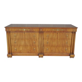 Johnson Furniture Co. Regency Neo-Classical Style Dresser / Credenza / Chest