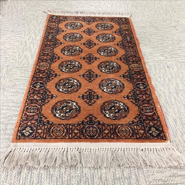 """Orange Karastan Wool Rug - 2'2"""" x 4'8"""" - Image 4 of 6"""