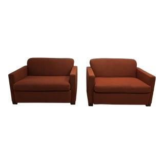 Art Deco Ruhlmann Style Armchairs - a Pair For Sale