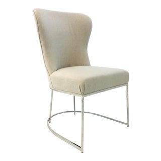 Robert Allen Modern Beige Cotton Rita Side Chair For Sale