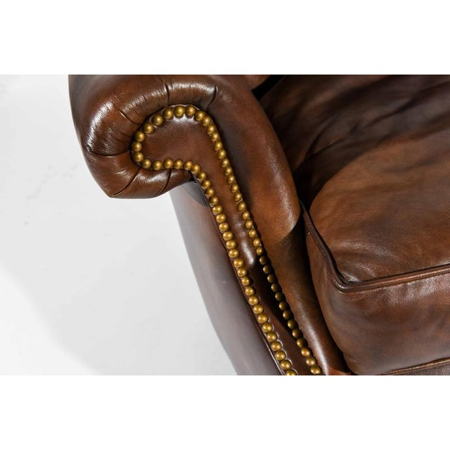 Gold Chesterfield Style Tufted Rocker with Brass Nailheads For Sale - Image 8 of 11