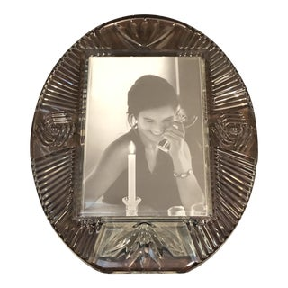 Waterford Crystal Oval Picture Frame For Sale