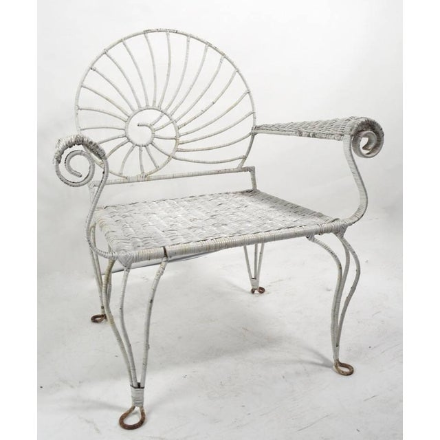 Mid 20th Century Nautilus Shell Back Arm Lounge Chair For Sale - Image 5 of 12