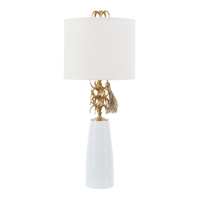 Ananas Table Lamp - White For Sale
