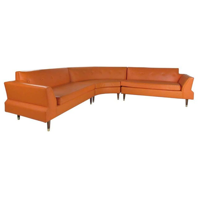 Mid-Century Modern Three-Piece Sectional Sofa For Sale - Image 13 of 13
