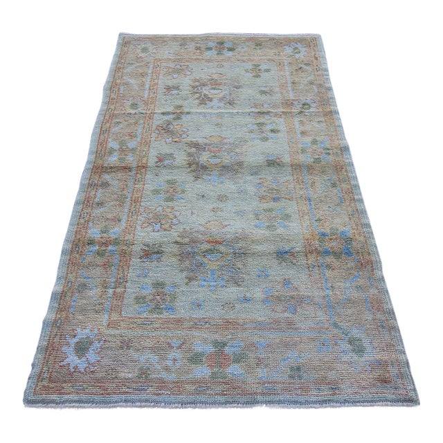 New Oushak Turkish Rug With Soft Colors - 3'5 X 6'6 - Image 1 of 5