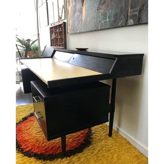 Boho Chic Mid Century Biscayne Floating Desk Edward Wormley for Drexel For Sale - Image 3 of 11