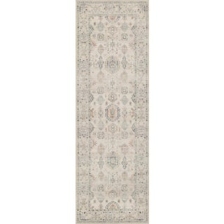 """Loloi Rugs Hathaway Beige/Multi 2'-6"""" x 7'-6"""" Area Rug For Sale"""