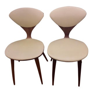 Vintage Mid Century Norman Cherner for Plycraft Bent Plywood Side Chair- A Pair For Sale