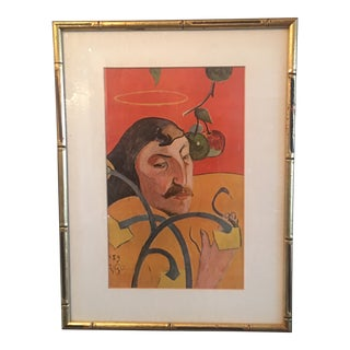 Paul Gauguin Self Portrait W/ Halo & Snake For Sale