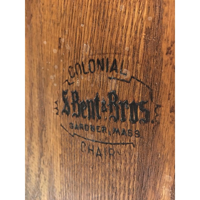 Vintage S. Bent & Bros. Rocking Chair For Sale - Image 11 of 11