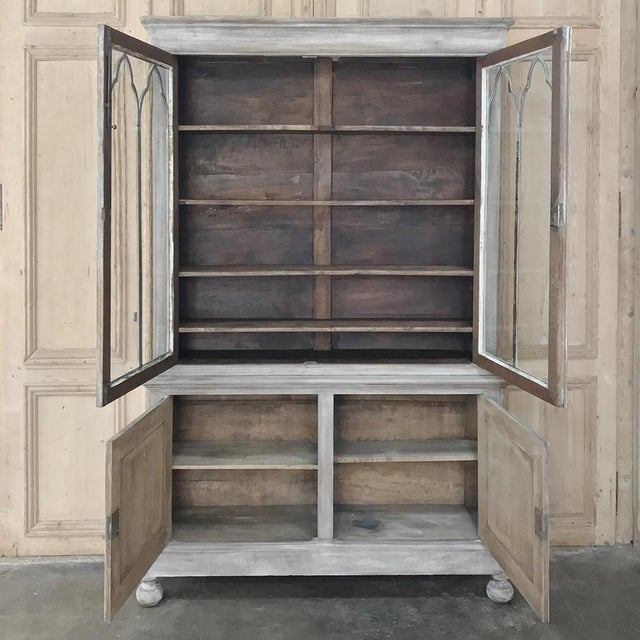 Mid 19th Century 19th Century French Louis Philippe Period Whitewashed Bookcase For Sale - Image 5 of 13