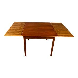 Danish Pull Leaf Teak Dining Table
