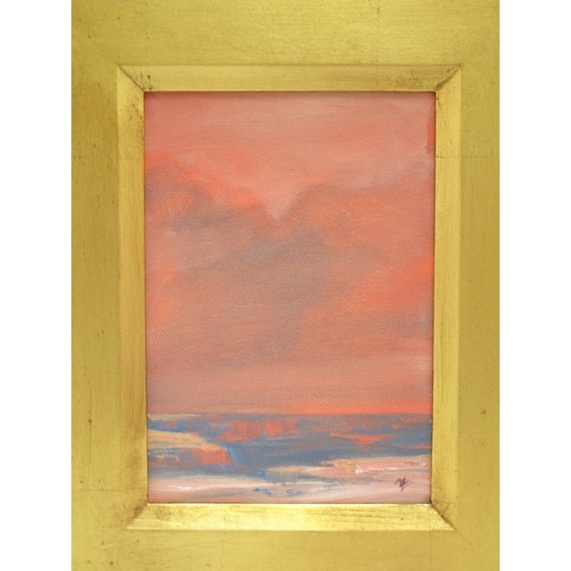 """Abstract Michael Ome Untiedt """"View of Canyon and Plains"""" Painting For Sale - Image 3 of 6"""