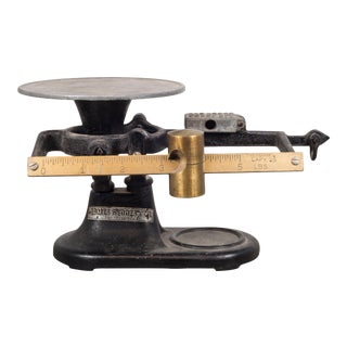 Antique San Francisco Brass and Cast Iron Balance Scale C.1930 For Sale