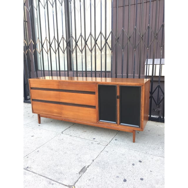 Stanley Furniture Mid Century Lowboy Dresser With Hidden Vanity by H.Paul Browning for Stanley Furniture Co. For Sale - Image 4 of 13