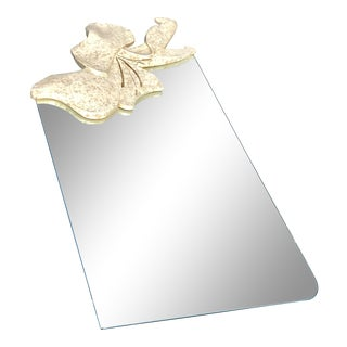 1980s Maitland Smith Style Floral Stone Mirror For Sale