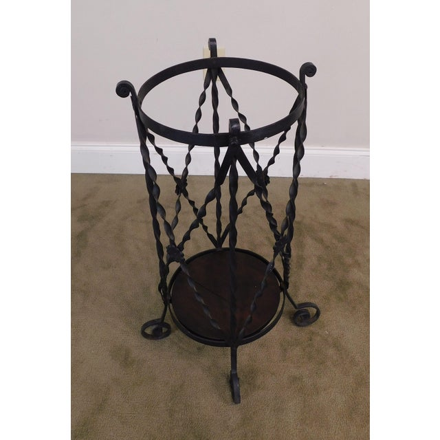 Aesthetic Antique Hand Wrought Iron Umbrella Stand For Sale - Image 4 of 13