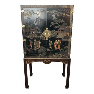 Drexel Heritage Illuminated Bar Cabinet